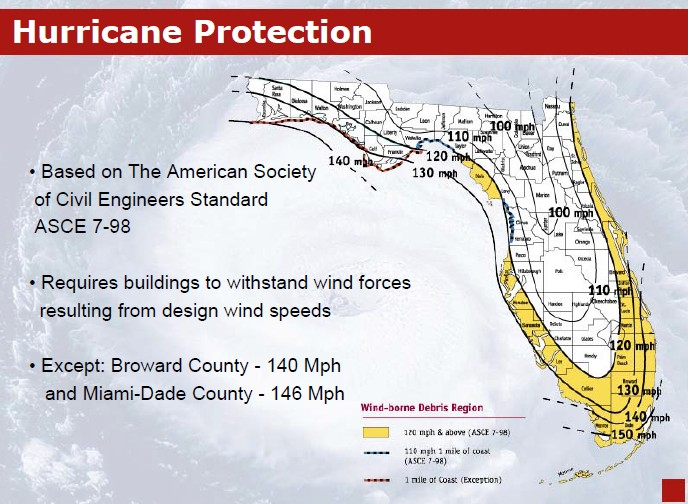 Florida wind zone map 2015 for Florida wind code for garage doors